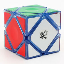 Dayan 3x3x3 Skewb Magic Cube Jigsaw Puzzle Intelligence Toys Transparent Blue