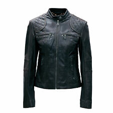 Ladies Real Leather Black / Brown & a Variety of Colours Biker jacket size 8-18
