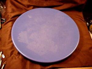 "CATALINA ISLAND, CATALINA BLUE CHOP PLATE, 14-1/2,""   SPOTTING, O/W MINT"