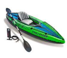 NEW Intex Challenger K1 Kayak 1-Person Inflatable Set w Oars & Pump | SHIPS FAST