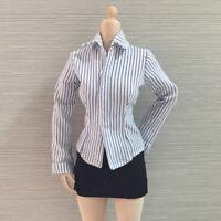 1:6 Striped Shirt Mini Skirt Dress Stockings for 12 Inch CY CG Phicen Kumik