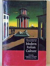 THE CAMBRIDGE COMPANION TO MODERN ITALIAN CULTURE - EDT. ZYGMUNT G. BARANSKI & R