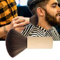 Barber Cleaning Hairbrush Neck Face Duster Brush Wood Handle Hair Sweep Brush