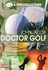 DOCTOR GOLF BY JOHN JACOB - GOLFING SKILLS & TECHNIQUES - 4 DVD BOXED SET - NEW