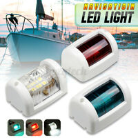 12V Marine Bow Navigation Side Light Boat Yacht Red LED Lights Waterproof