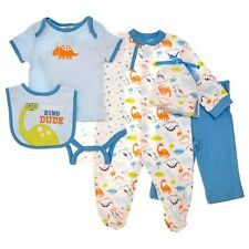 NEW Baby Gear Mommy's Dino Dude 6 Piece Boys Layette Set 0-3 Months MSRP $32