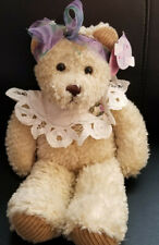 "First & Main Cream Colored Teddy Bear ""Chantilly"" Plush/Beany- 14"" w/tag"