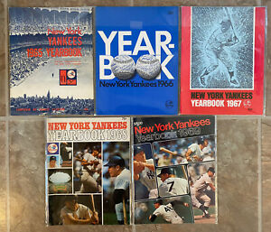 Vintage Official New York Yankees Sketch Book Yearbook. 1965 - 1969, 5 Years!
