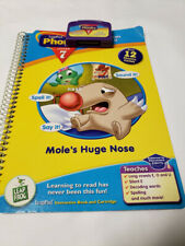 Leap Frog, Leap Pad Phonics Program Lesson 7,Mole's Huge Nose Book And Cartridge