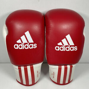 Adidas Red White 6oz Boxing Sparring Training Gloves