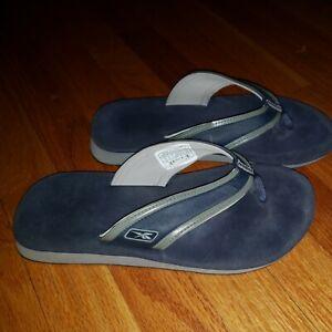 Reebok Blue Flip Flops Mans Size 8