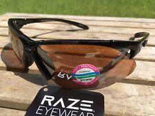 RAZE Eyewear Sunglasses HD Maximum Black Frame Brown Lens Golf 131111
