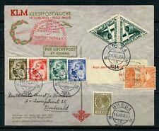 NETHERLANDS 1934 KLM Christmas Flight envelope - Netherlands-West Indies