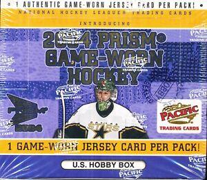 2003/04 PACIFIC PRISM GAME-WORN HOCKEY HOBBY SEALED BOX