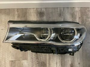 2017 BMW G11 G12 750LI ALPINA LEFT OEM LASER LIGHT HEADLIGHT 16 17 18 7463765-01
