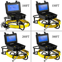 """100'/150'/200'/300' Pipe Inspection Camera Drain Sewer Camera 9"""" LCD Monitor"""