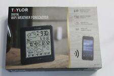 New Taylor Digital WiFi Weather Forecaster Indoor Outdoor Temperature Sensor Bl