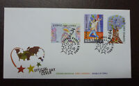 2016 CYPRUS PRINCIPLES AND VALUES SET OF 3 STAMPS FDC FIRST DAY COVER