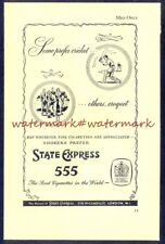 STATE EXPRESS 555 (Cricket/Croquet) Vintage (NOT Repro!) ADVERT. Free UK Post