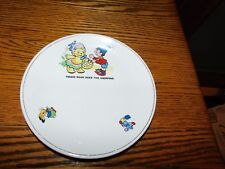 Staffordshire Child Plate Tessie Bear Does the Shopping Vintage Biltons England