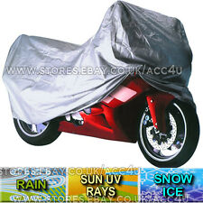 Water Resistant Fabric Breathable LARGE Motorcycle Motor Bike Cover+Storage Bag