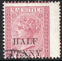 Mauritius 1876 maroon 1/2d on 10d crown CC perf 14 used SG77