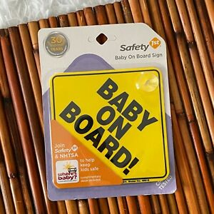 """Safety 1st """"Baby On Board"""" Sign 1, Yellow-  FREE SHIPPING"""