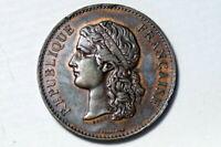 antike Medaille Republique Francaise Exposition Universelle Centenaire de 1789