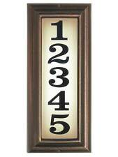 Edgewood, Ltv-1303-Ac, Large Vertical Lighted Address Sign in Antique Copper