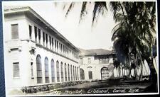PANAMA ~ 1930's CRISTOBAL ~ CANAL ZONE ~ COLON HOSPITAL ~ Real Photo PC  RPPC