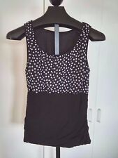 MAURICES LADIES SLEEVELESS BLACK/WHITE PULLOVER LINED TOP-JR. L-BARELY WORN-NICE
