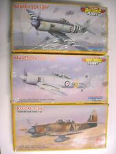 Pm Pioneer Hawker Sea Fury's Original T-20 T-61 trainers sealed kits 1:72 Nib
