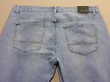 028 MENS EX-COND JAG SLIM FIT MID BLUE STRETCH JEANS SZE 36 $120 RRP.