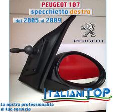 PEUGEOT 107 SPECCHIETTO RETROVISORE COMPLETO dal 2005 al 2009 DX DESTRO