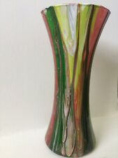 """ART Original""""The Grinch"""" Hand Painted Glass Vase Original One-Of-A-Kind.T3(Offic"""