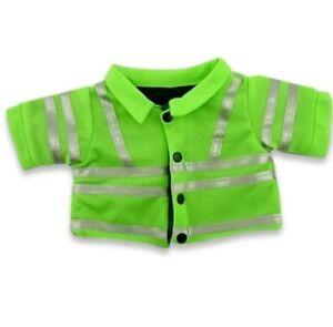 Teddy Bear Clothes fits Build a Bear Hi Viz JACKET Construction Police Clothing