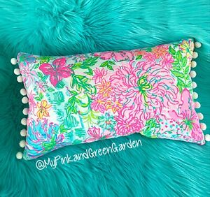 New throw pillow made with LILLY PULITZER Multi Paradise fabric