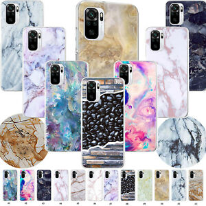 For Xiaomi Redmi 10 Note 10 9 8 Pro Stylish Marble Soft Phone Case Rubber Cover