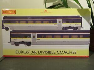hornby r4580 eurostar coach packs two divisable coaches bnib