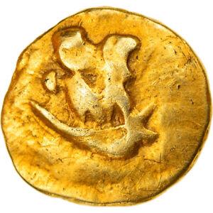 [#858666] Coin, Morini, 1/4 Stater, Ist century BC, AU(55-58), Gold