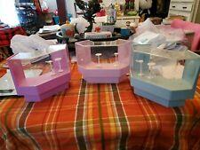 3 Plastic Doll Furniture