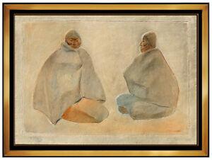 Francisco Zuniga Original Mixograph Relief Sculpture Latin Women Signed Artwork