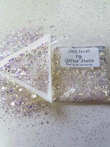 Nail Art Mixed Glitter (Jack Frost) 10g Bag Chunky Shimmering Shiny Festival
