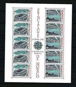 MONACO EUROPA SHEET 1987 SGMS1820