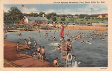 South Dakota postcard Sioux Falls Drake Springs Swimming Pool