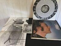 """John Lennon """"IMAGINE"""" SW-3379 & Lg Poster & Post Card 1971 Apple Vinyl LP"""
