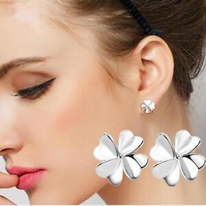HOT Women 925 Sterling Silver Flower Ear Stud Vintage Earrings Gift
