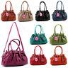 Ladies Faux Leather Womens Multi Pocket Heart Charm Medium Shoulder Handbag