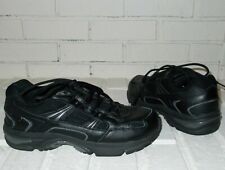 Vionic Walker Womens Black / Silver Leather Orthotic Walking Shoes Size 7
