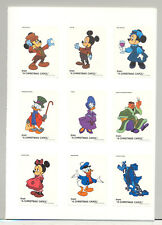 Anguilla #547-555 Disney Christmas 9v Imperf Proofs of Labels from M/S in Folder